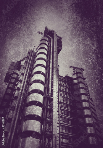steel tower on textured background