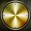round metal background