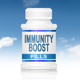 Immunity boost concept. poster