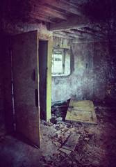 grunge derelict room