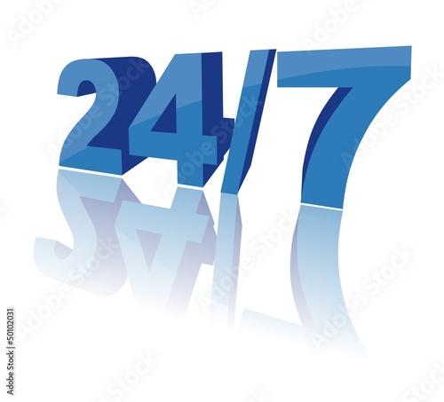 24/7 - 3D concept