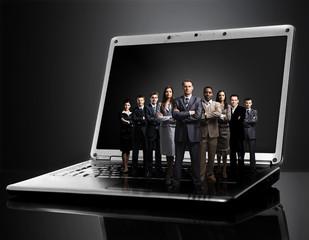 business team on laptop