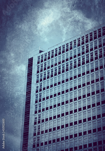 grunge office block