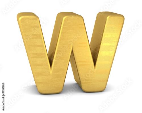 buchstabe letter W gold vertikal