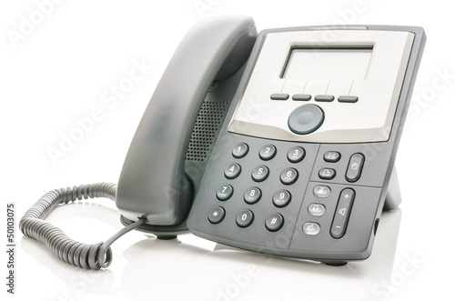 Telephone isolated over white