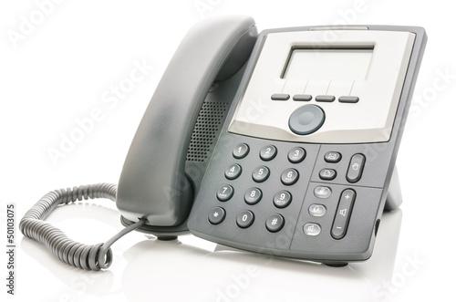 Telephone isolated over white