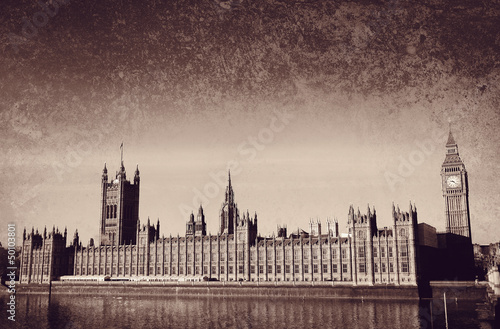 westminster on textured background