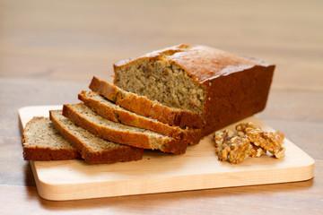 banana nut bread - horizontal