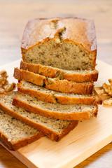 banana nut bread - vertical