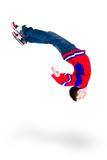 man dancer jumping flip
