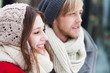 Couple in winter clothing