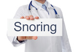 Doctor with Board Snoring