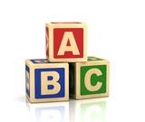 Fototapety abc letters - alphabet cubes