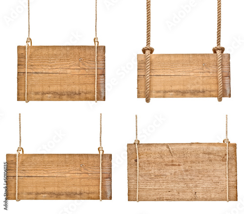 wooden sign background message rope hanging