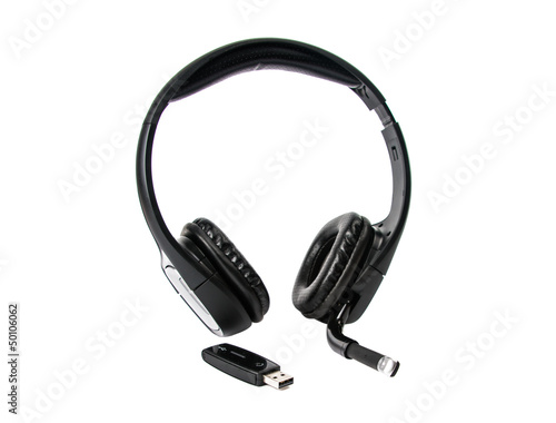 Wireless headset isolated