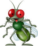 Smiling fly cartoon