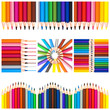 Collage carré crayons de couleurs