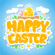 Happy Easter design template.