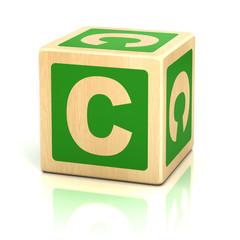 letter c alphabet cubes font