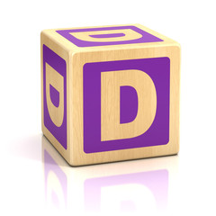 letter d alphabet cubes font