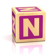 letter n alphabet cubes font