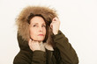 attraktive Dame im Winterlook