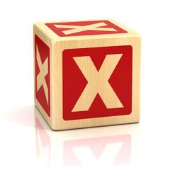 letter x alphabet cubes font