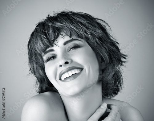 Photo of beautiful laughing woman
