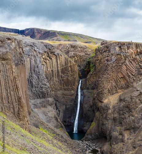 Hengifoss waterfall in Iceland