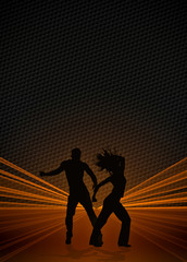 Zumba fitness dance background