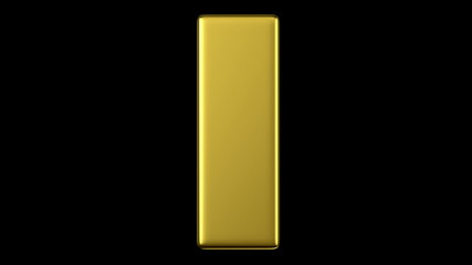 turning gold bar, seamless looping 3d animation