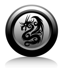 web icon with black dragon