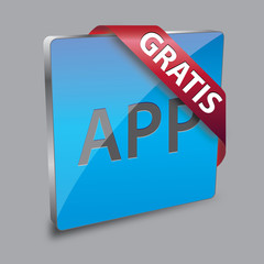 App Button Gratis 3D