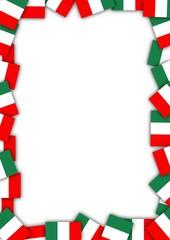 Italy flag border