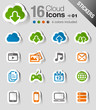 Stickers - Cloud computing Icons