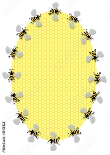 Oval Bee Frame