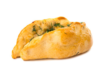 Puff pastry bun isolated