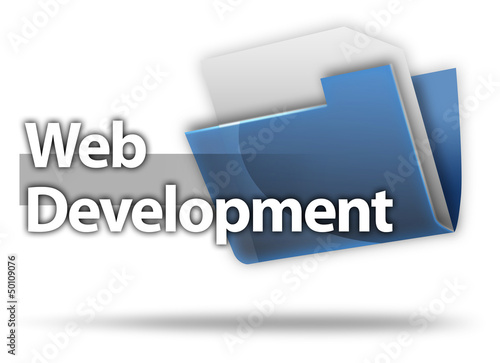 "3D Style Folder Icon ""Web Development"""