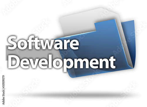 "3D Style Folder Icon ""Software Development"""