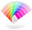 Color sample catalogue sheaf vector icon