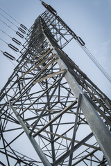 A high- voltage tower