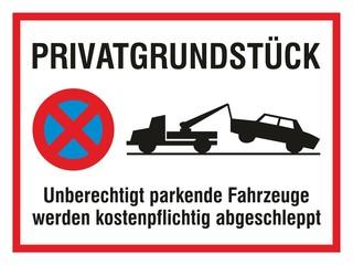Privatgrundstück - Parken Verboten