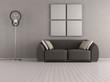 Brown modern living room