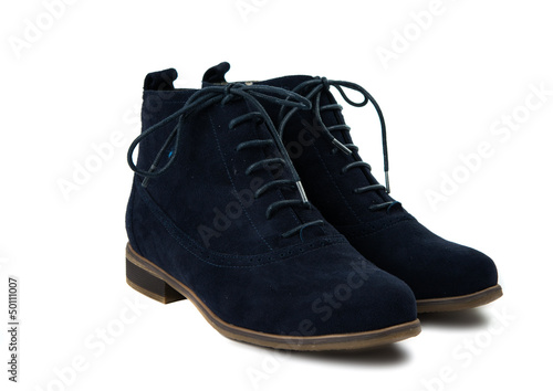 suede shoes isolated