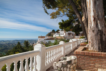 View of the Mijas city in Spain