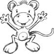 Cute Sketch Monkey Illustration Art