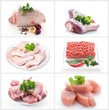 Collection of meat images