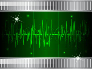 Oscilloscope display vector illustration