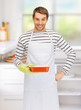 cooking man in kitchen