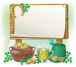 St. Patrick's Day wooden board